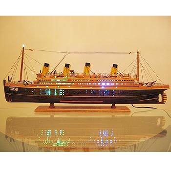 【送料無料】帆船模型 夢住緑「タイタニック(L)」(代金引換はご利用できません)