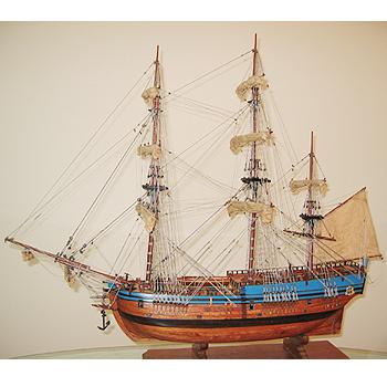 【送料無料】帆船模型 夢住緑「エンデヴァー(L)」(代金引換はご利用できません)