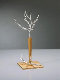 「ジュエリースタンド/中」高岡の自由に曲げれる錫製品:木型工房HANANO