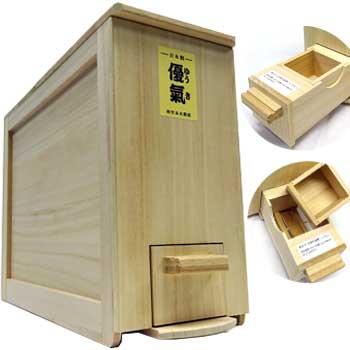 総桐計量米びつ「優気 5kg用」コンパクトタイプ 竹本木箱店