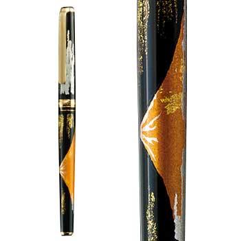 箔一:華麗な装飾美と究極の書き心地「金沢箔万年筆 赤富士」