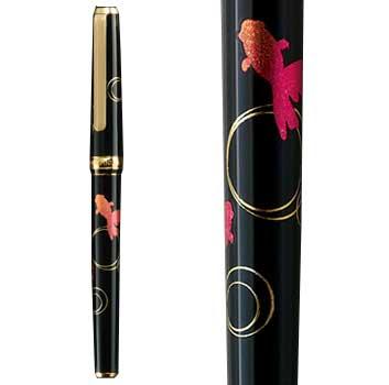 箔一:華麗な装飾美と究極の書き心地「金沢箔万年筆 金魚」