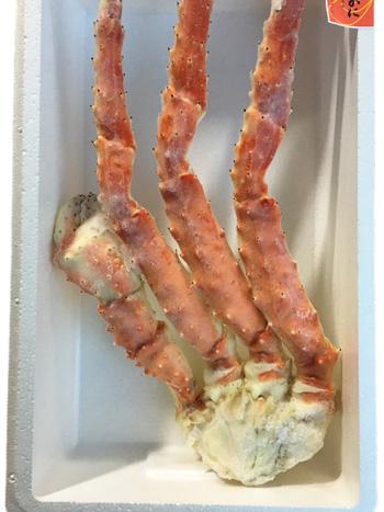 越田商店:一度は食べたい極太のたらばがに「特大ボイルたらばがに」(クール冷凍便)