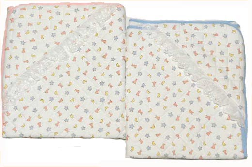Japan-made baby clothes = cotton nit quilt soft Afghan (Swaddle) baby gifts and gifts please Angel series