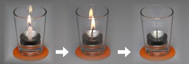 安全特許燈台 アーバン 東海製蝋 灯立 ローソク立て 小ローソク用 ミニローソク用