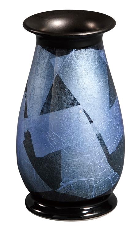 【送料無料】彩九谷焼花瓶 [銀彩露草(つゆくさ) 6号] 花瓶 九谷焼 陶磁器製 かびん