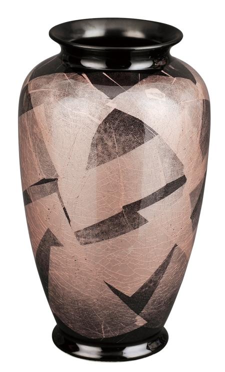 【送料無料】彩九谷焼花瓶 [銀彩躑躅(つつじ) 8号] 花瓶 九谷焼 陶磁器製 かびん