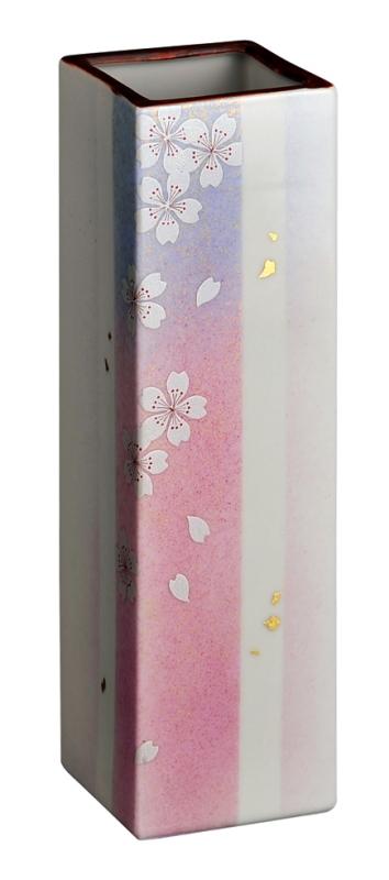 【送料無料】桜九谷焼花瓶 [花の舞 8号] 花瓶 九谷焼 陶磁器製 かびん