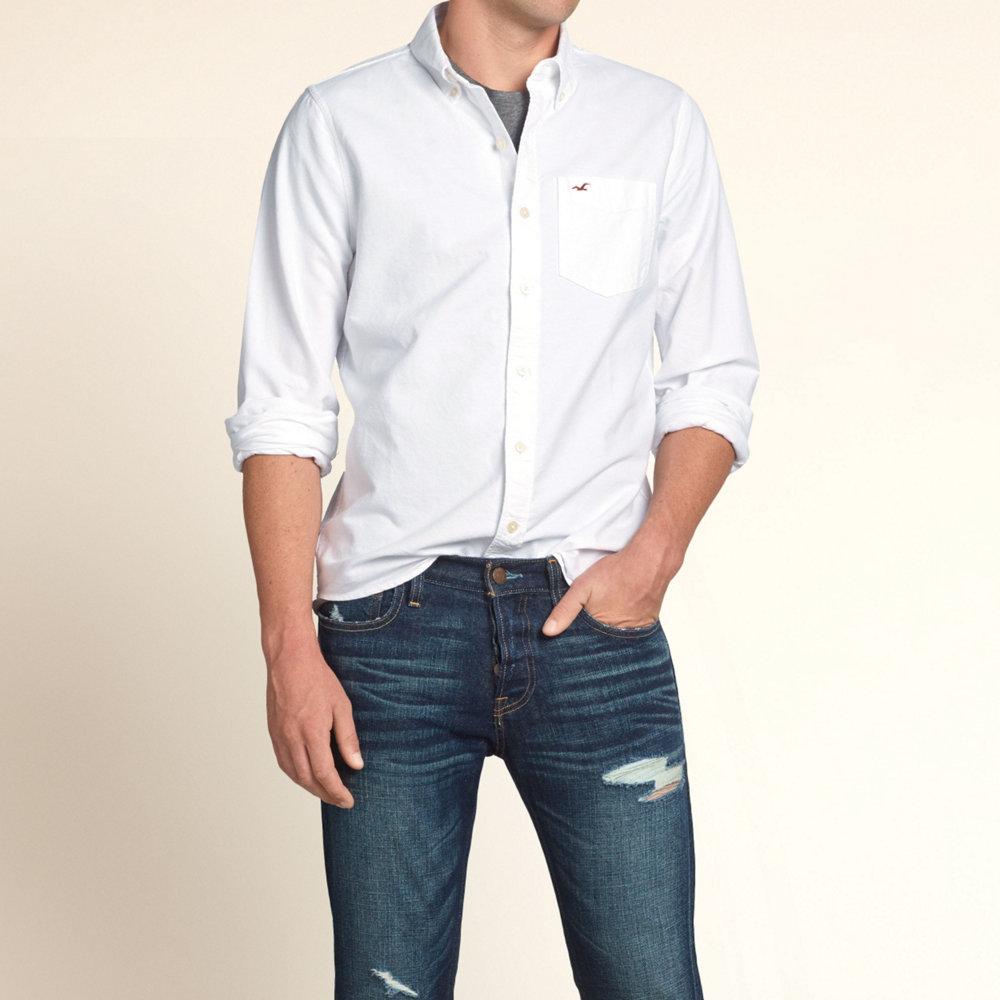 9daea824 hype: Hollister casual shirt men's genuine long sleeve shirt shirts ...