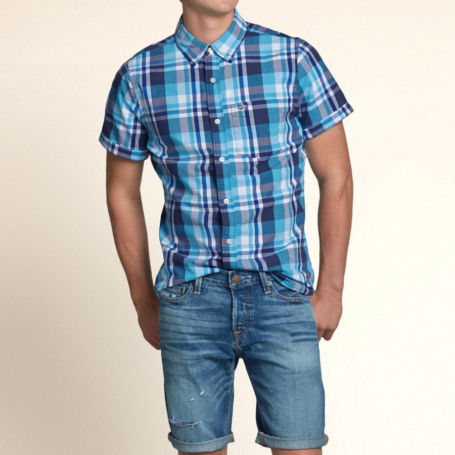 hollister checked shirt mens
