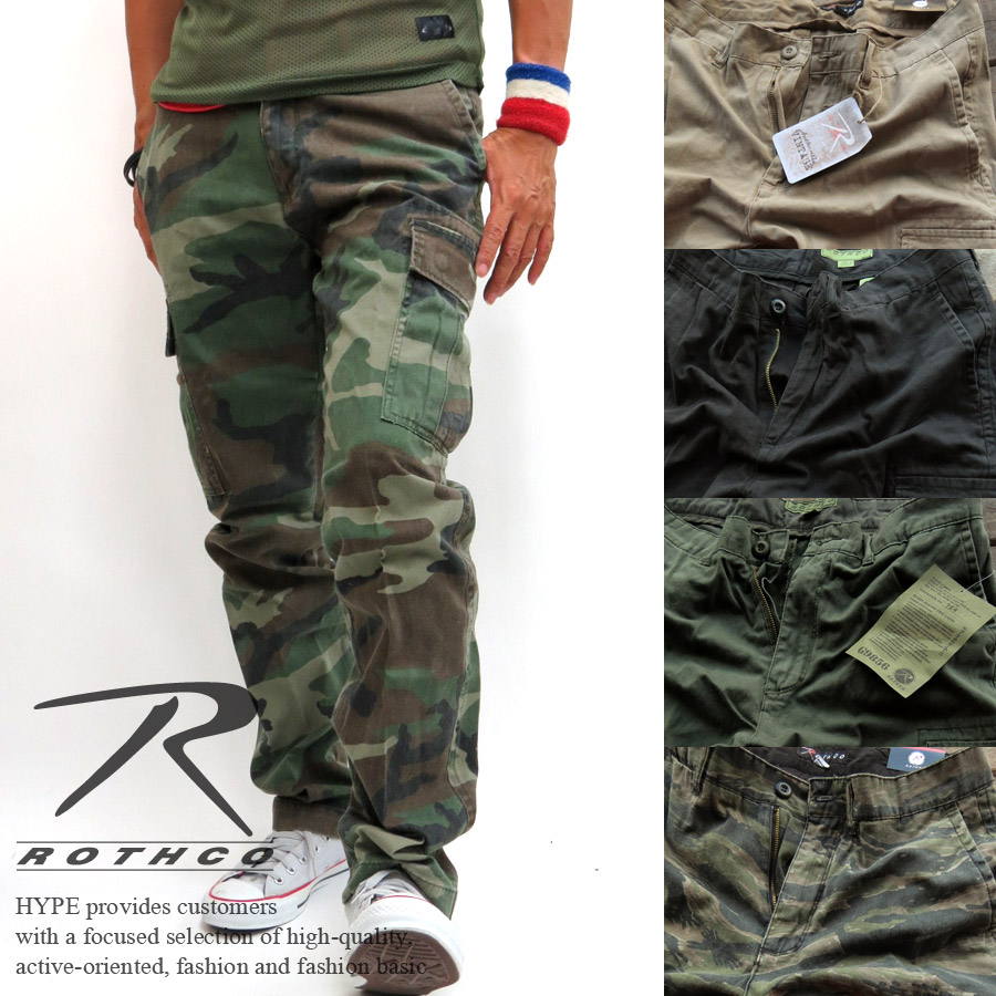 Hype Rothko Rothco Vintage Cargo Pants Mens Work Pants Military