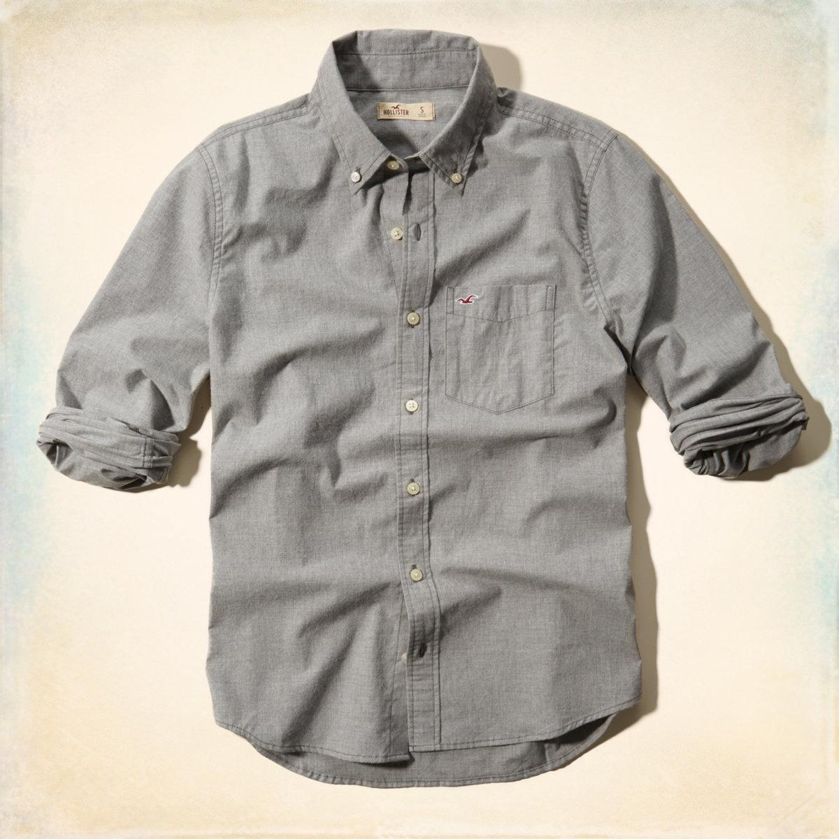 grey hollister shirt