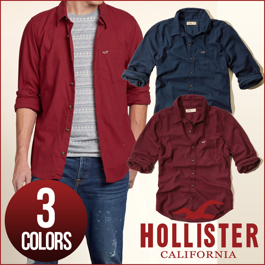 hype | Rakuten Global Market: Hollister casual shirt men's long ...