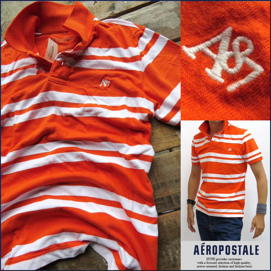 93adcfd4 Aeropostale polo shirt mens border genuine short sleeve A87 embroidery  AEROPOSTALE 6047-5640-845 ...