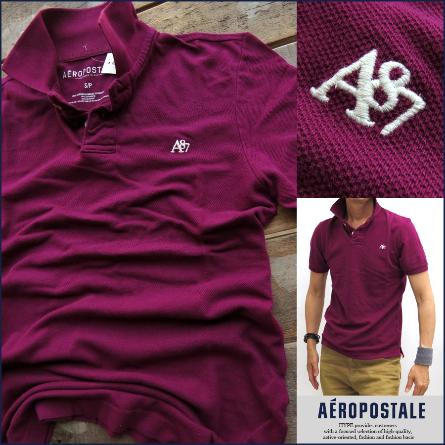 f5d6d4dc Aeropostale AEROPOSTALE Polo Polo mens genuine short sleeve A87 embroidered  men's fashion tops 6027-4289 ...