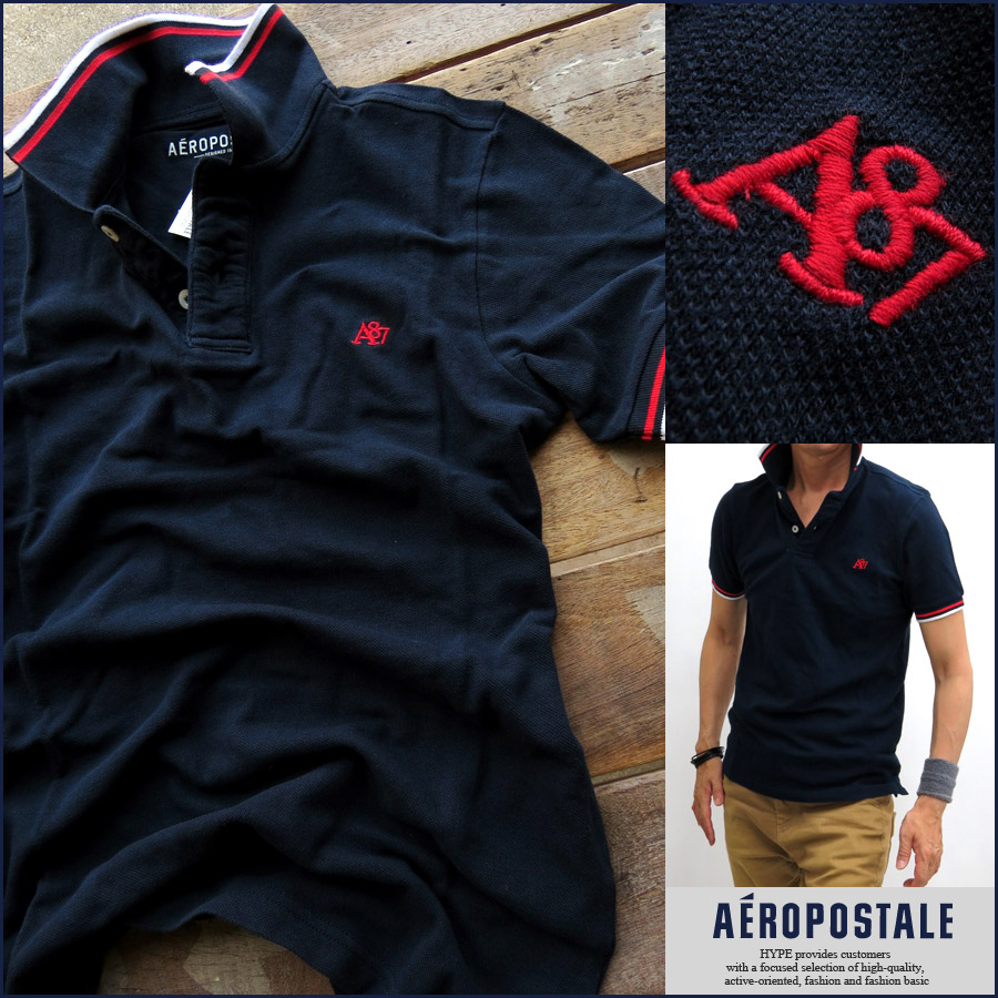 d1163492 Aeropostale polo shirt mens AEROPOSTALE genuine short sleeve Polo Polo  casual brand mens 6047-5641 ...