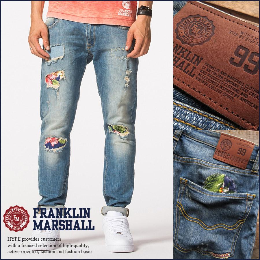 sports shoes b8fb6 25e57 Franklin Marshall FRANKLIN & MARSHALL repair machining jeans denim mens  Vintage denim pants 41181-1003-633 REPAIRED ■ 05150510