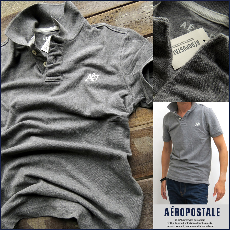 5c987301 Aeropostale polo shirt men's genuine short-sleeved Polo casual brand mens  6027-7990- ...