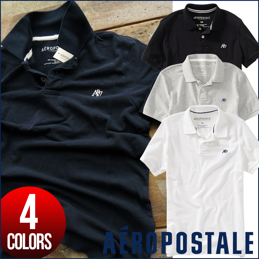 ce15e24c Aeropostale polo shirt men's genuine short sleeve A87 small embroidery  Kanoko mens fashion tops 6027- ...