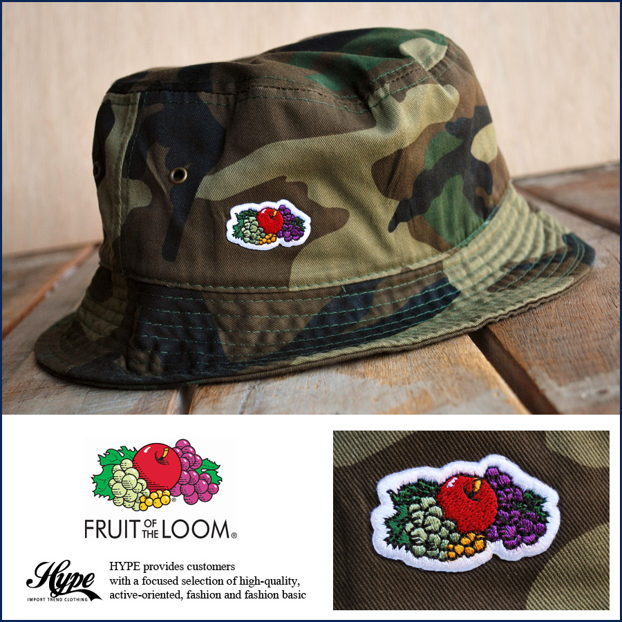 hype  FRUIT OF THE LOOM fruit ofthe room bucket Hat men s women s ... 15ddff5f498