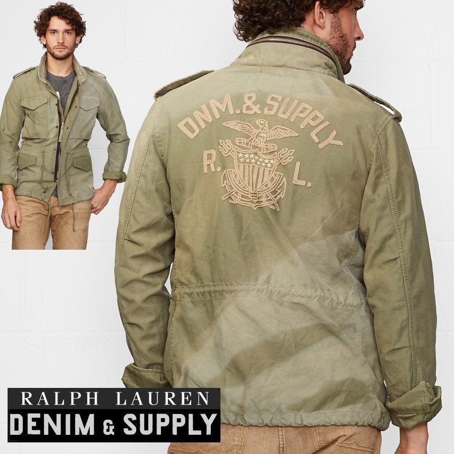 66d7fa20b hype  Military jacket men s 100% regular Ralph Lauren DENIM  amp ...