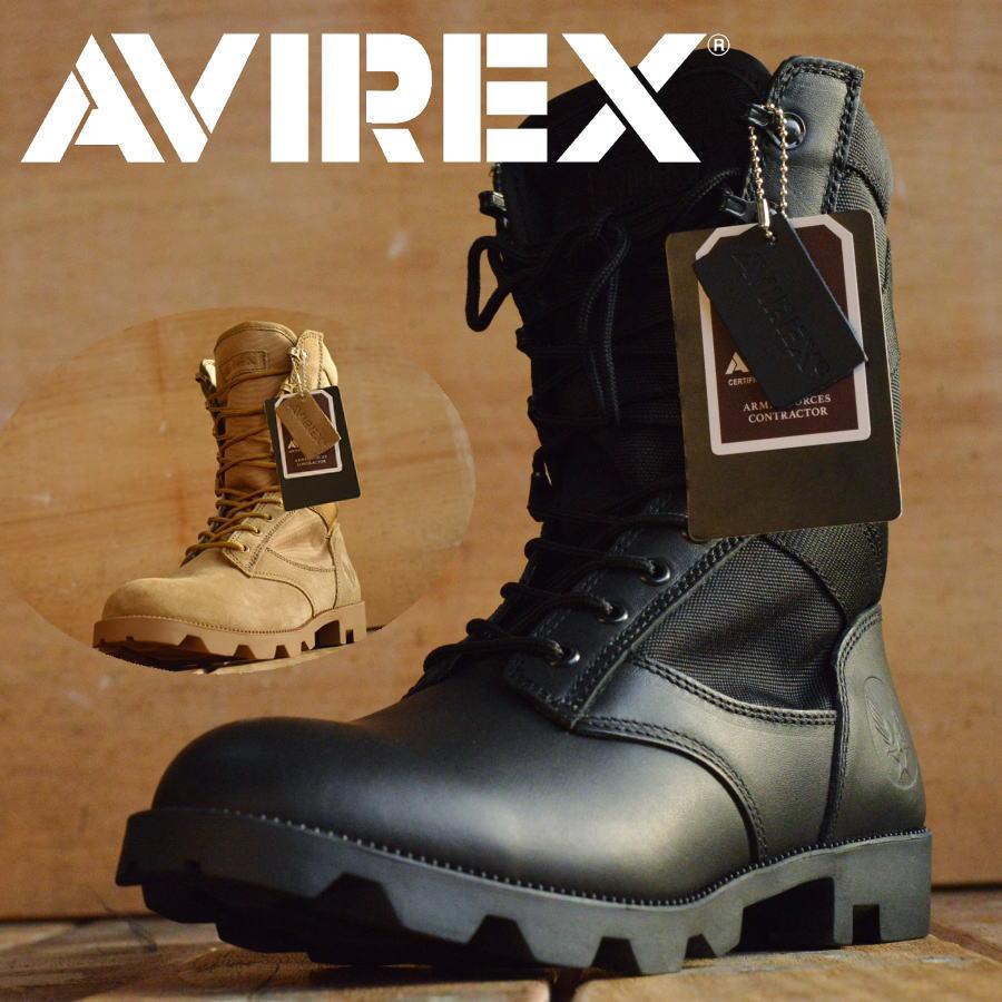 COMBAT 本革 ミリタリー ブーツ AVIREX U.S.A. (アビレックス) AV2001 メンズ レディス【Y_KO】 1020sai