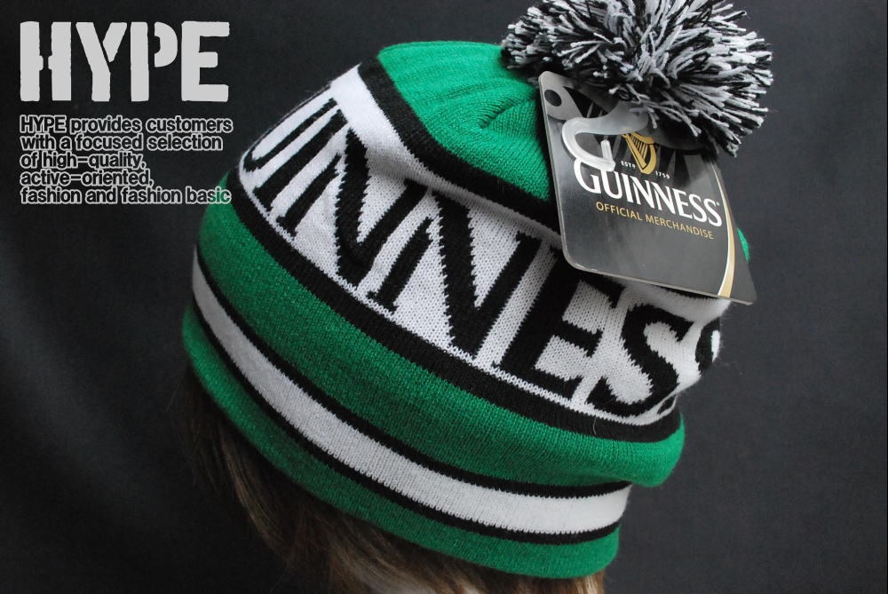 120% regular ♢ GUINNESS Guinness knit hat men   Beanie ♢ green x white ♢  KC149675GNS0 ♢ Official licensed products f57e168c07f5