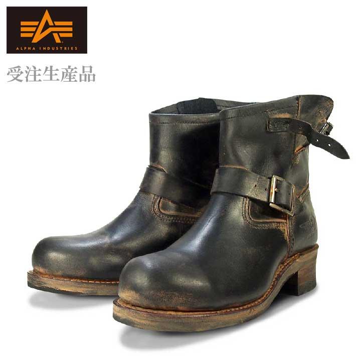 【受注生産品】正規品 Alpha Industries 牛革 エンジニアブーツ ワークブーツ ブーツ メンズ AFB-20014df【Y_KO】【SHA】■180201