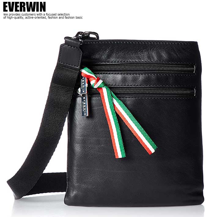エバウィン EVERWIN サコッシュ イタリア製 牛革 軽量 コンパクト ショルダーバッグ メンズ バッグ 22113 SD5646316Y YI1801178OPX0wnk