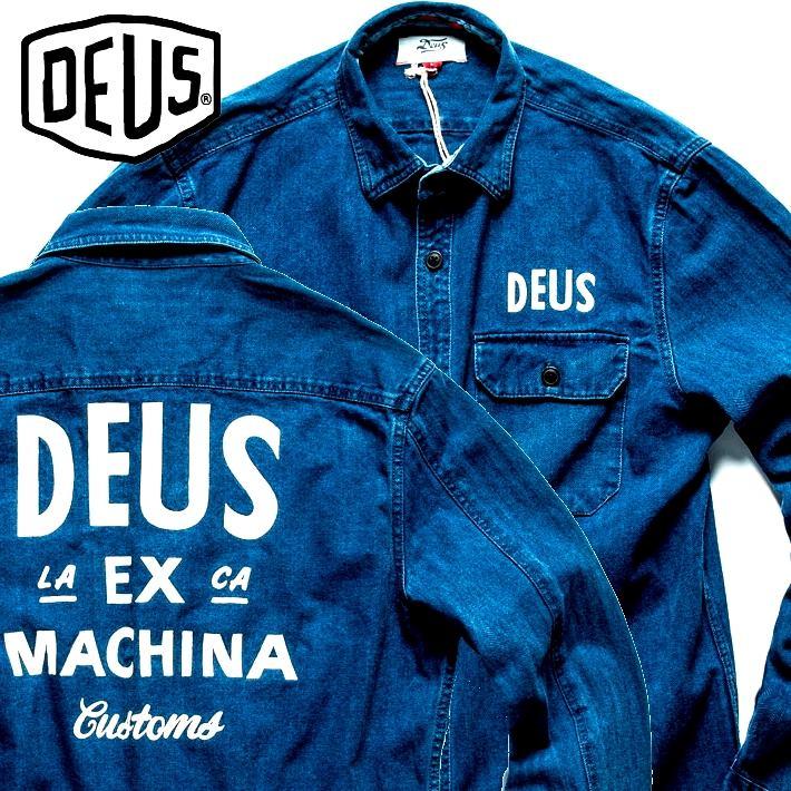 デウス DEUS EX MACHINA シャツ ジャケット メンズ ブランド シャツジャケット ライトアウター インディゴ ブルー 青 DMF85346 181104