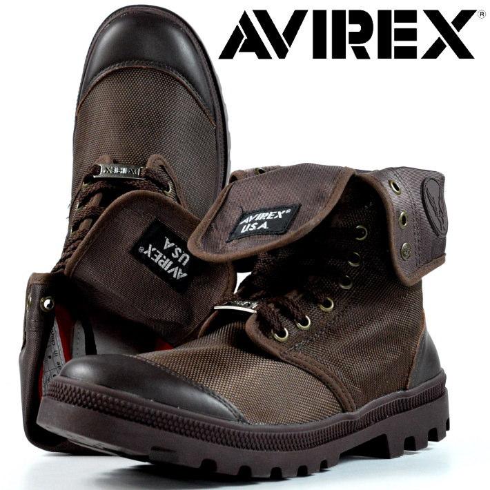 ブーツ メンズ レディース AVIREX 送料無料 SCORPION HI スコーピオン アビレックス 正規品 アヴィレックス 本革×ナイロン レザー Y_KO AV3402 ダークブラウン 190318