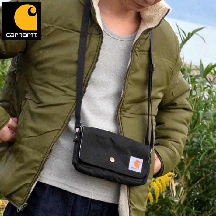 ミニ ショルダー メンズ レディース サコッシュ CARHARTT カーハート ブランド バッグ ポーチ 送料無料 1371H0101 ブラック 黒