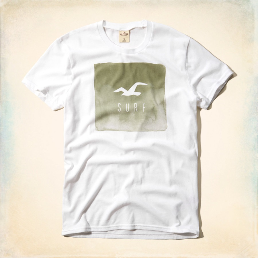 Hype Hollister T Shirt Mens Graphic Print T Shirt Genuine Hollister