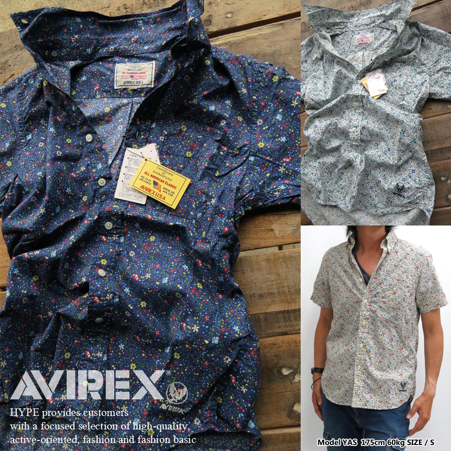 hype | Rakuten Global Market: Avirex flower shirt pattern short ...