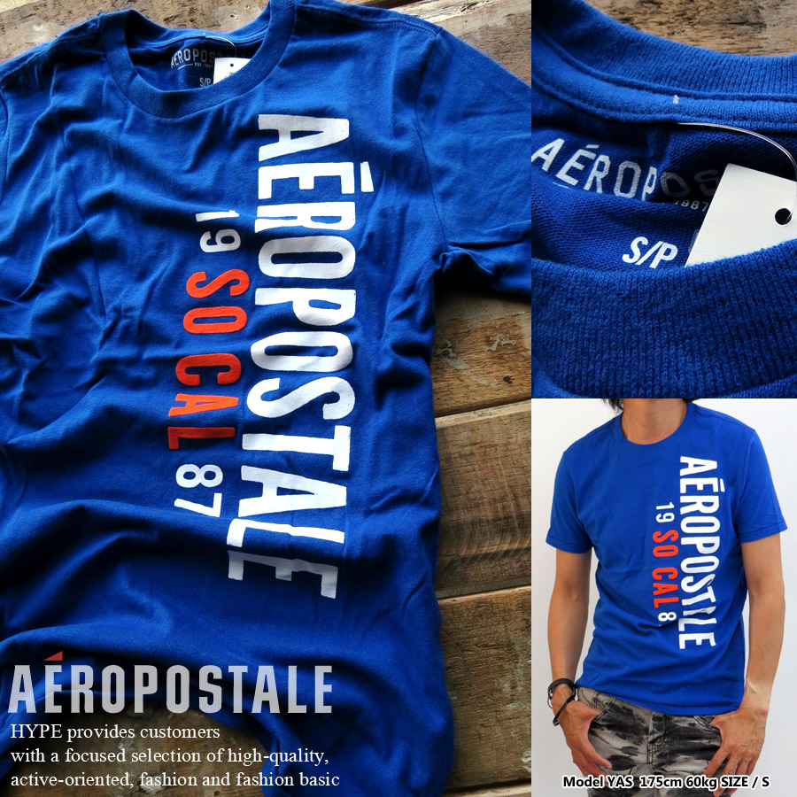 c9fd6a439956 Aeropostale T shirt mens genuine logo print T shirt crew neck round neck  short sleeve men's ...