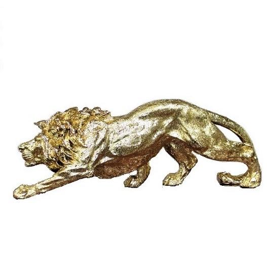 ライオンの置物 オブジェ ゴールド オーナメント 送料無料 金 オブジェ 置物 インテリア 玄関 動物雑貨 アンティーク クラシック ヨーロピアン 父の日 ギフト 贈り物
