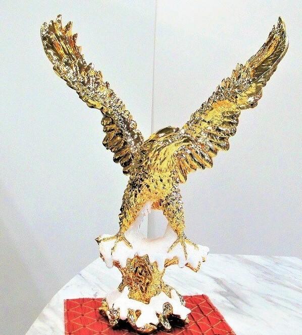 鷹の置物 イーグル オブジェ ゴールド 送料無料  おしゃれ オーナメント アニマル 動物 鳥 ヨーロピアン アンティーク クラシック インテリア 金 輸入雑貨 新築祝い 開店祝い