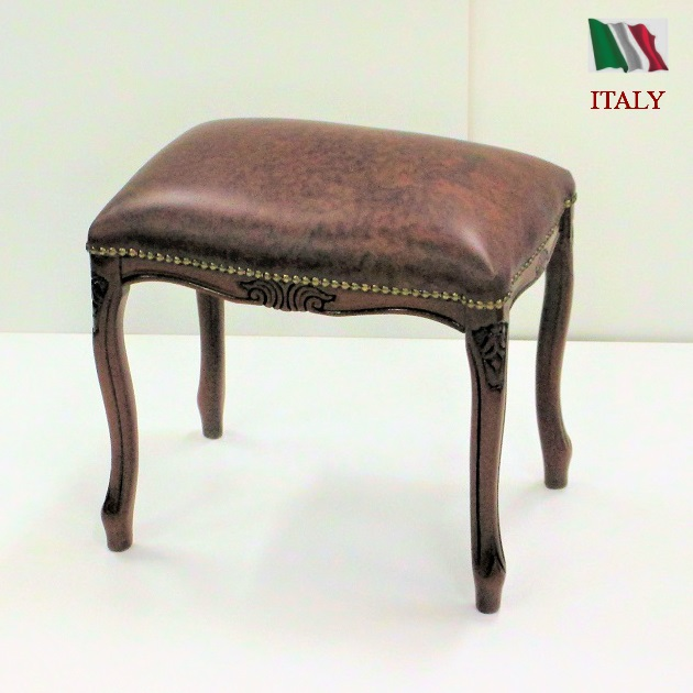 Astonishing Genuine Leather Stool Soundless And Stealthy Steps Antique Brown Wooden Finished Product Italy Hide Tanning Tension Leather Chair European Rococo Camellatalisay Diy Chair Ideas Camellatalisaycom