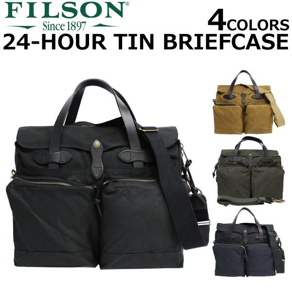 FILSON/フィルソン 24-HOUR TIN BRIEFCASE/24アワーティンブリーフケース70140-OT/B4 2WAY/ショルダーバッグ/ビジネス/カバン/鞄 メンズオッターグリーン プレゼント/ギフト/通勤/通学