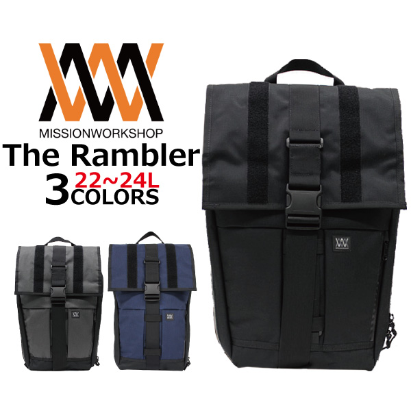 Mission Work Rambler V Backpacks Rucksacks Bags Men S Women Black