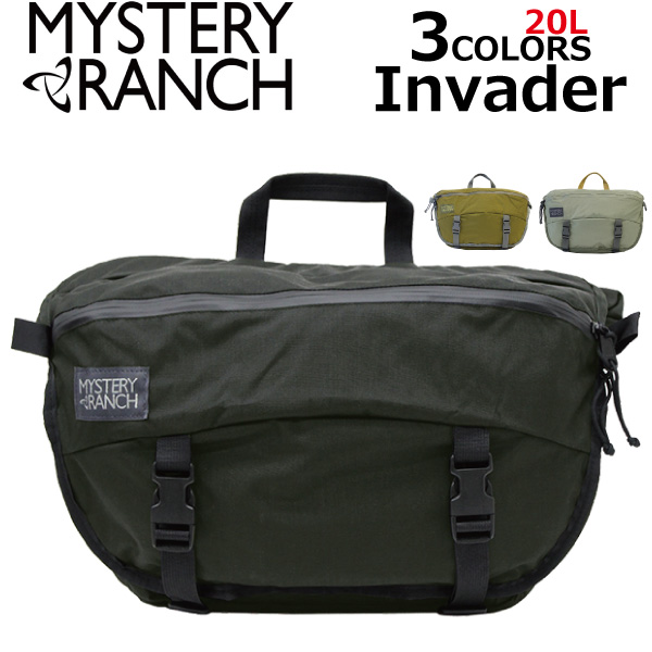 MYSTERY RANCH/ミステリーランチ INVADER/インベーダーメッセンジャーバッグ/ショルダーバッグ/カバン/鞄メンズブラック プレゼント/ギフト/通勤/通学/送料無料