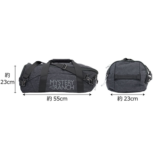 MYSTERY RANCH  mystery lunch MISSION DUFFEL 40 mission duffel   Boston bag  shoulder bag backpack rucksack bag men A4 40L black present gift commuting  ... 47aacafaca535