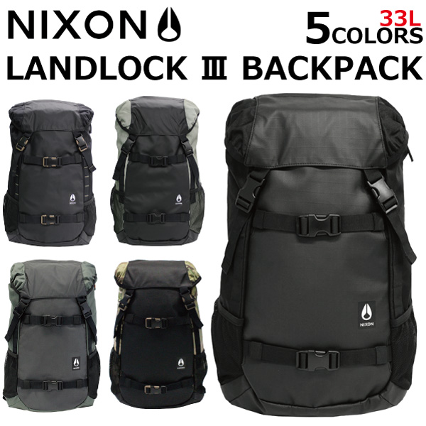 33ceaa2d5 It is NIXON Nixon Landlock III Backpack land lock 3 backpack rucksack  rucksack day pack skater ...