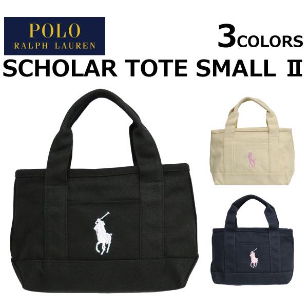 3e40ab46996e POLO RALPH LAUREN polo Ralph Lauren SCHOLAR TOTE SMALL2 scalar Thoth Small 2  canvas tote bag handbag Lady s men A4 present gift commuting attending  school