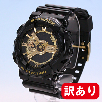 【訳あり】【BOXなし】 CASIO カシオ / G-SHOCK ジーショック Black × Gold GA-110GB-1Bla × Gold Series / ブラック×ゴールドシリーズ アナデジモデル 腕時計