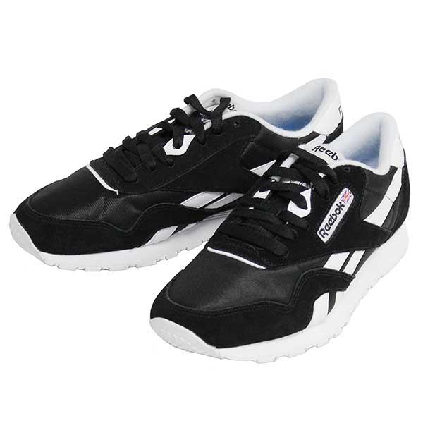 e8a0d19876d3 Reebok CLASSIC Reebok classical music CL NYLON classical music nylon  sneakers shoes men gap Dis unisex 6604 black white present gift commuting  attending ...
