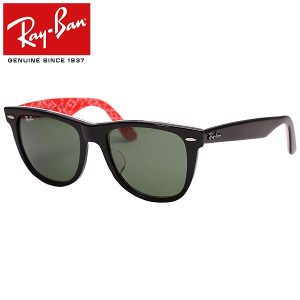 Ray-Ban/Rayban/レイバン サングラス/メンズ/レディースRB2140F 1016 54/WAYFARER/ウェイファーラー/ブラック×テキスト プレゼント/ギフト/通勤/通学/送料無料