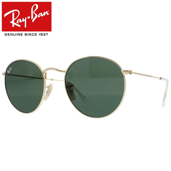 Ray-Ban Rayban レイバン ROUND FLAT LENSES ラウンド フラット レンズ サングラスメンズ レディース RB3447N 001 53ゴールド プレゼント ギフト 通勤 通学 送料無料