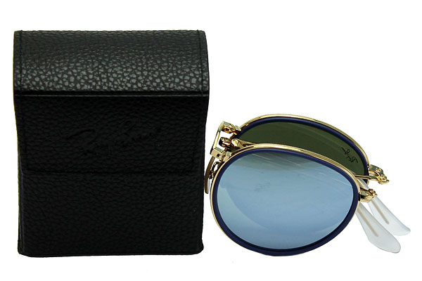 eee45a5e084a6 Ray-Ban  Ray-Ban sunglasses RB3517 001 30 51 ROUND FOLDING  round folding  folding   mirror lens gold present   gift   commuting   goes to school  until 7 25 ...