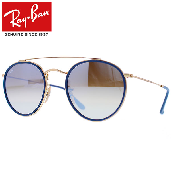 692ab952a8bcf Ray-Ban Rayban Ray-Ban ROUND DOUBLE BRIDGE round double bridge sunglasses  men gap Dis mirror flat lens RB3647N 001 9U 51 ...